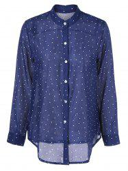 Polka Dot Chiffon Loose Shirt