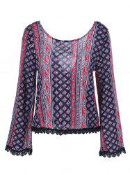 Bell Sleeve Crossback Blouse -
