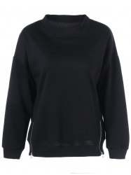Plus Size Double Ziper Sweatshirt