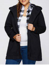 Hooded Buttoned Back Bowknot Coat -