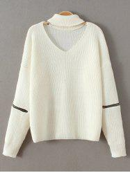 Choker Neck Plain Sweater -