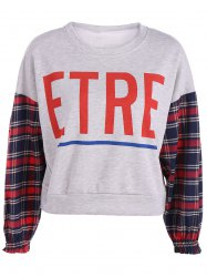 Etre Graphic Plaid Insert Sweatshirt