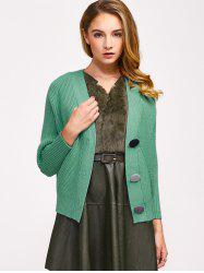 Knitted Button Up Ribbed Cardigan -