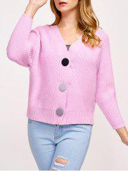Knitted Button Up Ribbed Cardigan