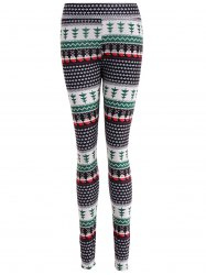 Ornate Print Slim Fit Leggings - COLORMIX
