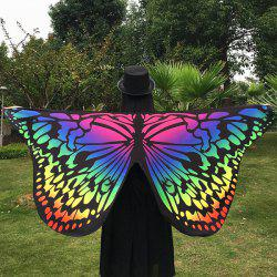 Merry Gradient Color Butterfly Wing Scarf