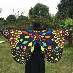 Outdoor Ethnic Colorful Butterfly Wing Scarf -