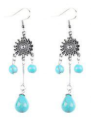 Bohemian Artificial Turquoise Chandelier Earrings -