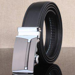 Stylish Polished Rectangle Automatic Buckle Wide Belt - CHINCHILLA