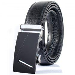 Polished Bar Automatic Buckle Wide Belt