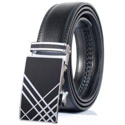 Stylish Plaid Print Automatic Buckle Wide Belt