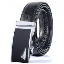 Stylish 3D Triangle Automatic Buckle Wide Formal Belt