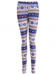 Stretchy Ornate Print Christmas Leggings