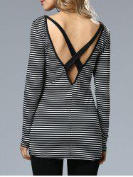 Stripe Cross Back Top -
