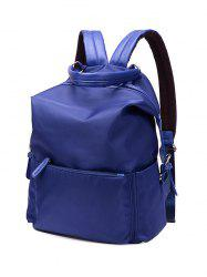 Zippers Double Buckle Splicing Backpack