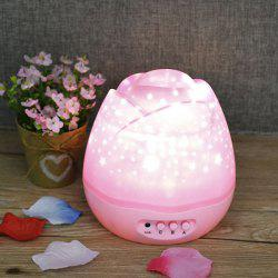 Romantic Room Atmosphere Starry Sky Baby Room Projector Lamp - PINK