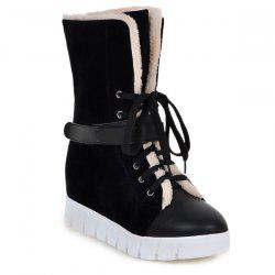Faux Fur Lined Ankle Boots -
