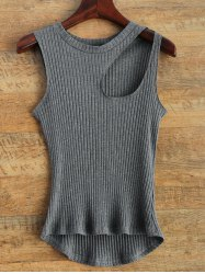 Asymmetric Cut Out Tank Top -