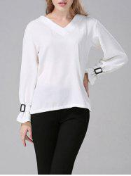 Long Sleeves V Neck Blouse