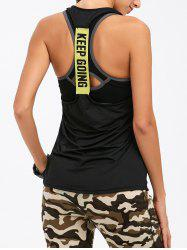 Active Keep Going Printed Raceback Tank Top