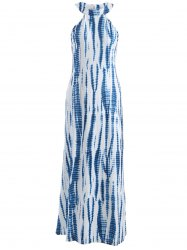 Printed Maxi Halter Casual Gown Evening Dress -