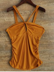 V Strap Twisted Tank Top
