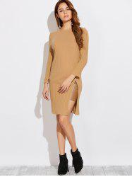 Long Sleeve High Furcal T-Shirt Dress