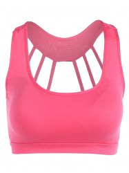 Scoop Neck Back Strappy Padded Yoga Top -