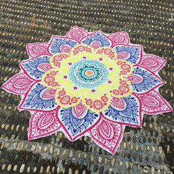 Ethnic Retro Flower Shape Beach Throw