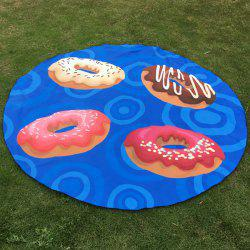 Christmas Four Donuts Print Round Beach Throw