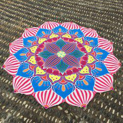 Christmas Retro Lantern Flower Shape Beach Throw