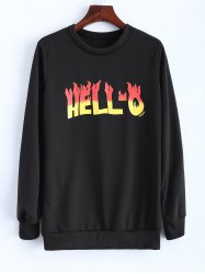 Fleeced Hello Sweatshirt
