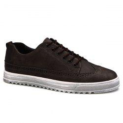 Vintage Engraving and Lace-Up Design Casual Shoes For Men -