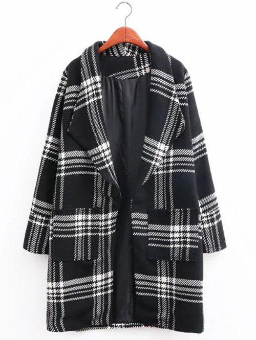 Hot Oversized Plaid Long Wool Coat