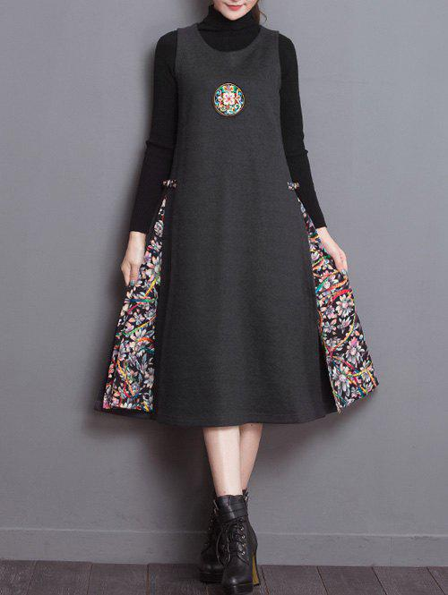 Fashion Chinese Embroidery Sleeveless Dress