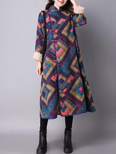 Outfit Argyle Chinese Style Loose Coat