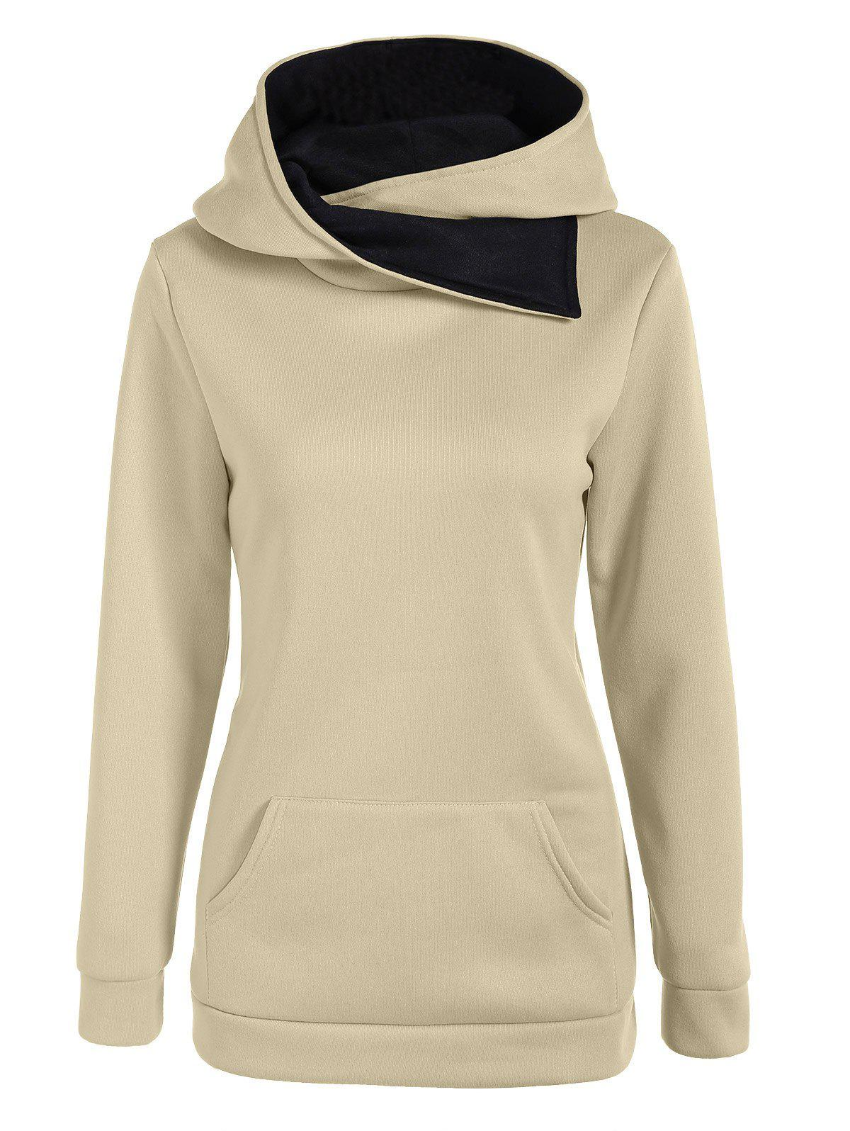 Affordable Casual Kangaroo Pocket Pullover Hoodie