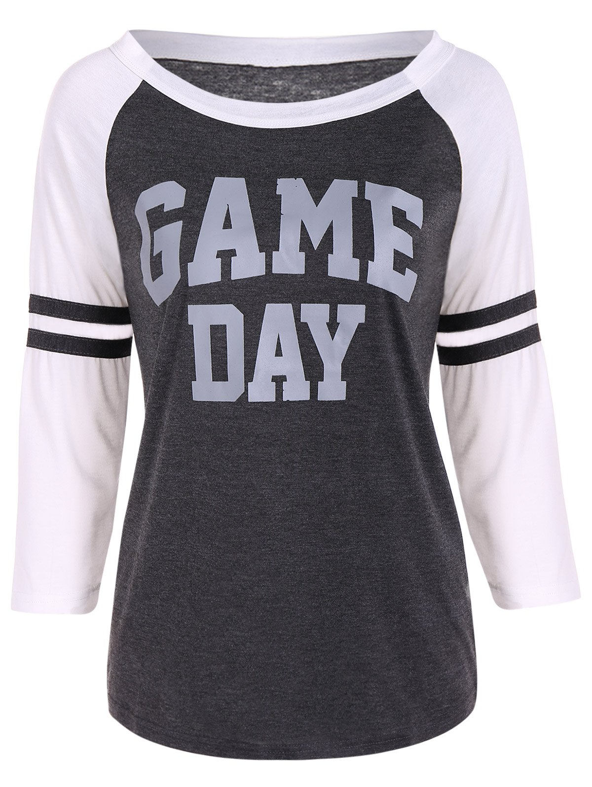 8f928f3c66f 2019 Game Day Graphic Raglan Sleeves Baseball Tee Shirts | Rosegal.com