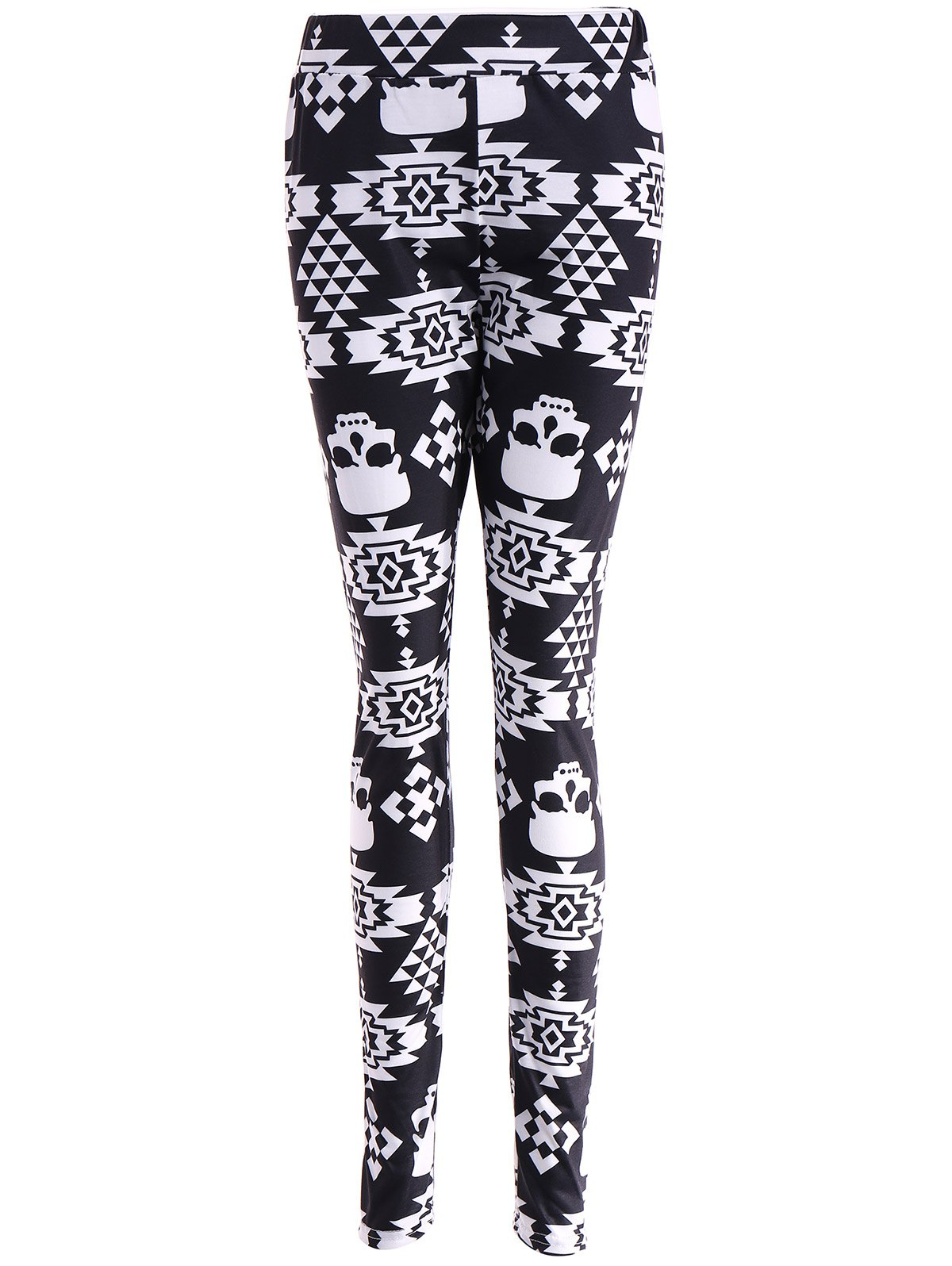 Hot Skull Print Stretchy Leggings