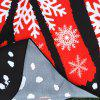 Merry Christmas Snowflake Print Butterfly Scarf - RED