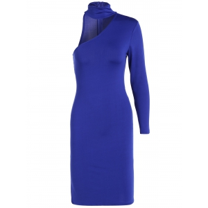 Long Sleeve One Shoulder Bodycon Dress