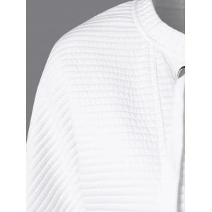 Drop Shoulder Lace-Up Sweatshirt - WHITE M