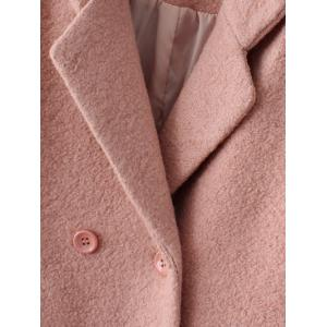 Lapel Wool Double Breasted Coat -