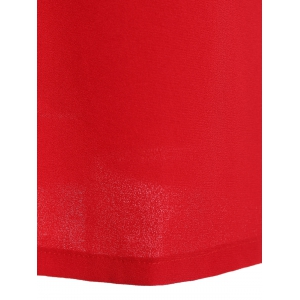 Pussy Bow Shift Dress - RED S