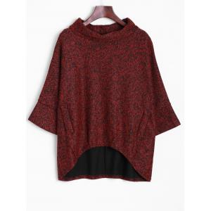 Dolman Sleeve Irregular Blouse