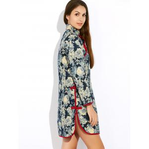 Floral Long Chinese Style Coat -