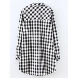 Plus Size Plaid Fleece Shirt Jacket -