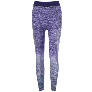 Ombre Color Yoga Pants - Purple - One Size