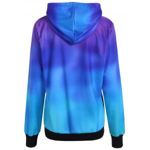 Ombre Color Tree Pullover Hoodie -