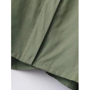 Slim Patch Spliced Short Jacket - ARMY GREEN L